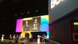 Kate onstage at BCLA 2015